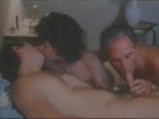 trio, groot wijnoogst neuken, biseksuelen video-