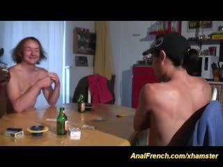 controleren frans kanaal, kijken trio, mooi anaal