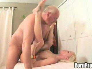 Madison Scott Jizzed by an Old Guy Video