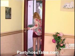 Vivian och peter nylonstrumpor fan vid
