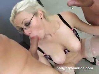 AdriAnna Nicole Gets Sprayed With A Load Of Cum In That Boyr Mouth