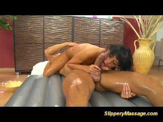 kijken masseuse film, alle massage, geolied