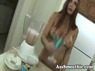 Cheyenne Hunter Drinks A Hole Smoothie
