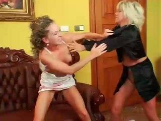 nominale lesbisch, lesbische strijd film, muffdiving