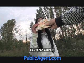 Czech teen takes money for sex in park