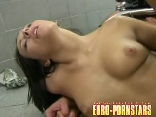 Hot Stripped SOnia Red Spreads Her Slits Wide To Get Boned Deep On The Floor