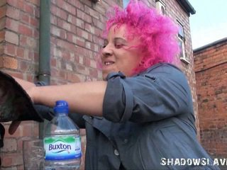 Roxys Upskirts Rubber Toy Masturbation And Tenderfoot Public Nudity Of English Ginger Honey In Chunky Out Of Doors Hole By A Dodgy Bar In An Alleyway
