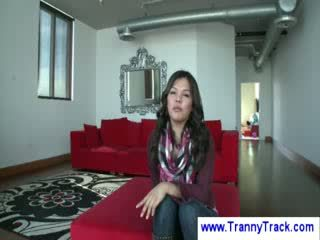 Asian Lady Boy does the talking