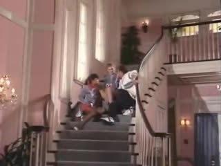 Sexy doll college girls fuck in classic porno film