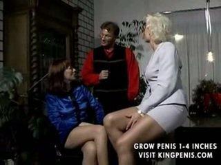 grupu sekss, blowjob, retro, orģija