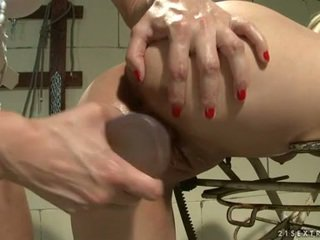 Katy Borman Pumped The Anal Of Erotic Dame Surrounding Fake Sausage