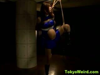 Pregnant tied up asian fetish slut humiliated