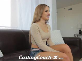 Casting couch-x exótica cali chica nervous a hacer porno