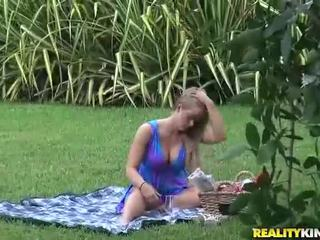 Milf Holly Heart gets eaten in the park