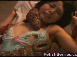 Tentacles sæd på asiatisk beauty!