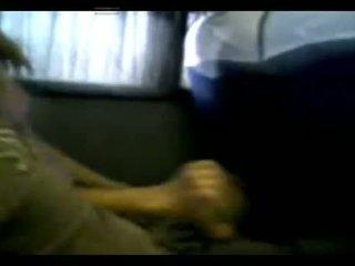 Hand en klap baan binnenin de bus in argentina - mv