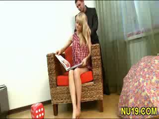 Neat lelle gets nailed doggy stils