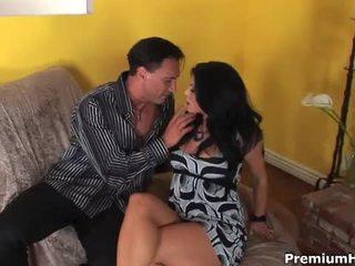 brunette, deepthroat, nice ass