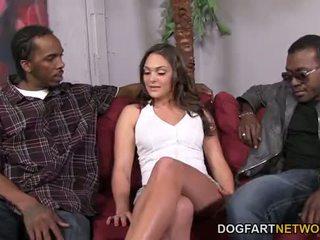 Olivia Wilder Can Handle Two Big Black Cocks