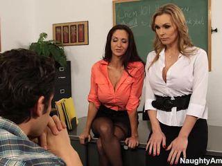 큰 titted teachers 유혹 그들의 learner 에 섹시한 3 약