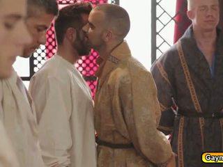 homoszexuális, nagy darab, blowjob
