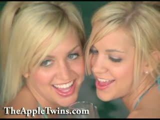 Beautiful Twin Sisters, Erotic Twins Tease.