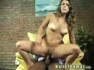 Katie gets slammed по a чорна guy