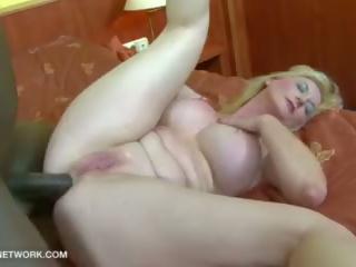 Big Tits Granny Black Cock Cumshot on Boobs After Hardcore Interracial Sex