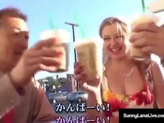 vers pijpbeurt scène, zien japan, natuurlijke tieten