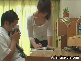 Sexy Asian With Big Breasts Home Teacher Part6