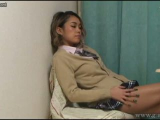 Voyeuring the panties of japanese schoolgirl from under the desk.