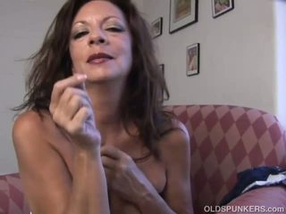 Super Sexy Old Spunker Fucks Her Soaking Wet Pussy for