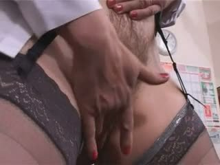 Big Tits Hairy Mature Teacher Masturbation pt1