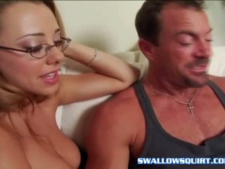 Tiana Lynn & Kinzie Kenner suck cock before orgasm