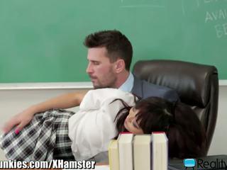 Chinese Schoolgirl Rides Her Well Hung Teacher: HD Porn 3d