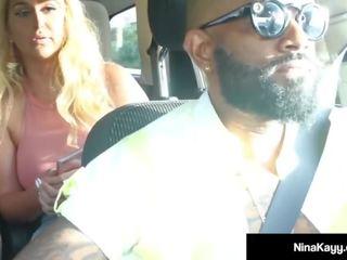 Phat Ass Nina Kayy Rides Big Black Cock Using Boober App!