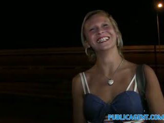 PublicAgent Hot blonde women gets fucked outside next to the road