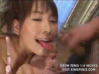 Japanese slut facial bukakke