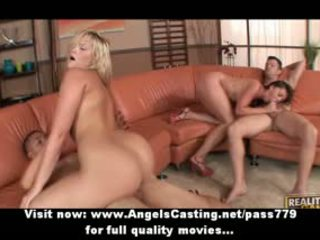 Young Swingers Having Foursome With Doggie Style And Chicks