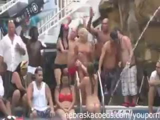 Fun Loving Girls Partying Naked at Pool Party Dante's Club Key West