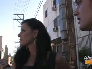 Skinny MILF India Summer on a black monster cock
