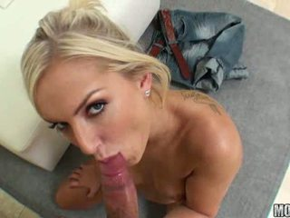 Taylor Tilden stunning blonde girl with natural tits doing blowjob and gets pussy fucked