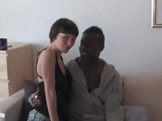 Pia Sofie's First Black Cock While Her Cuckold is...