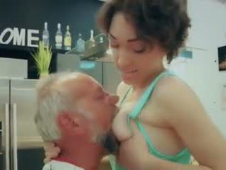 young, deepthroat, shaved pussy, blowjob