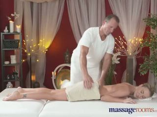 Massage Rooms Horny tattoo girl has her tight hole fingered and fucked - Porn Video 581