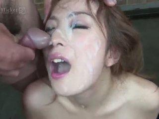 brunetta, nuovo deepthroat vedere, giapponese