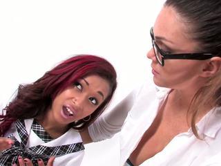 Sexy schoolgirls Skin & Alison fuck