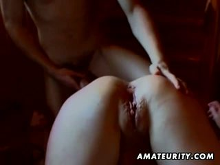 Hot amateur girlfriend anal fuck with blowjob
