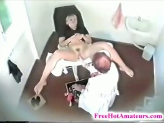 Kinky Janitor Installed A Hidden Camera In Gynecol