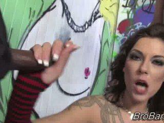 Chayse Evans gets bukkaked by ten blacks